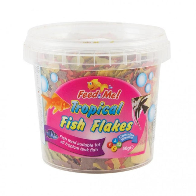 Front - Feed Me Tropical Fish Flakes