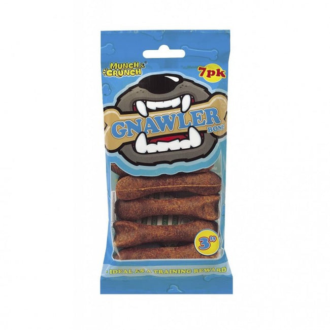 Front - Munch & Crunch Gnawler Bones (Pack of 7)