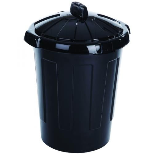 Black - Front - Wham Dustbin With Secure Lid