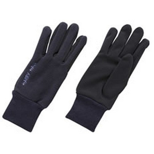 Navy Blue - Front - Harry Hall Adults Unisex Fleece Domy Suede Gloves