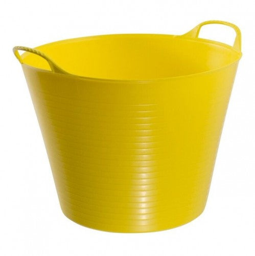 Yellow - Front - Red Gorilla Flexible Tubtrug