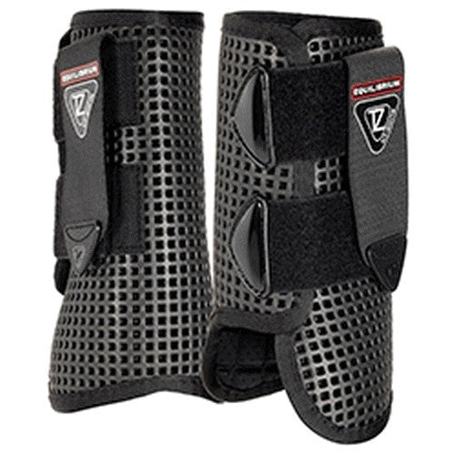 Black - Front - Equilibrium Tri-Zone All Sports Horse Boots
