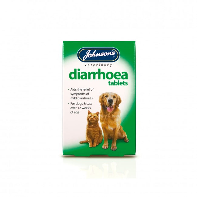 Front - Johnsons Veterinary Dog/Cat Diarrhoea Tablets