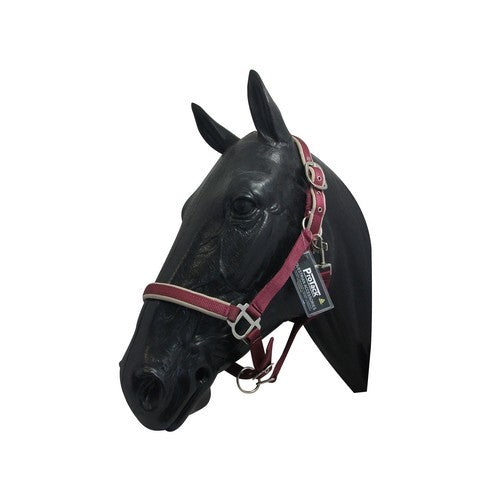 Burgundy-Beige - Front - ProTack Headcollar Comfort Adjustable