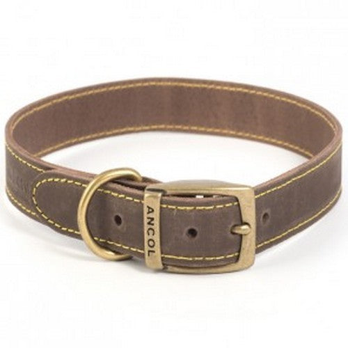 Sable - Front - Ancol Timberwolf Leather Collar