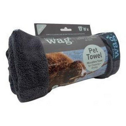 Grey - Lifestyle - Henry Wag Microfibre Pet Towel