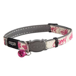 Pink - Front - Rogz Glowcat Cat Collar