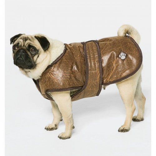 Brown - Back - Danish Design Pet Products Waggles Dog Coat