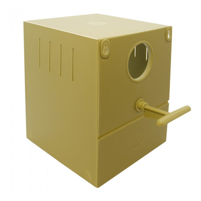 Front - Quiko Finch Round Hole Nest Bird Box
