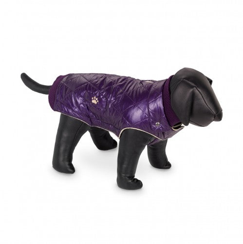 Front - Nobby Nina Fleece Lined Dog Coat