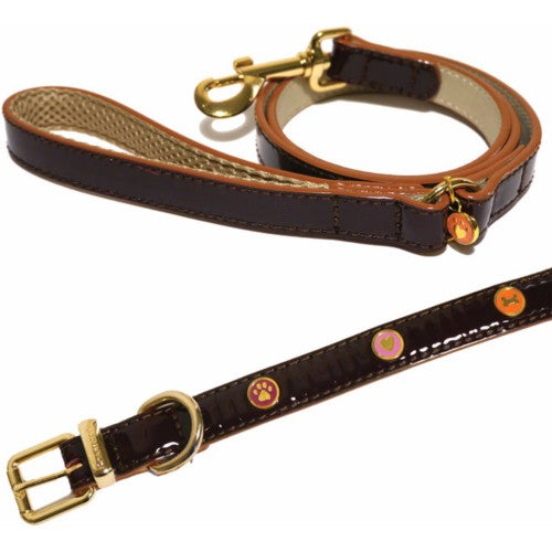 Front - Rosewood Wag N Walk Designer Leather Harness (Toy Dog/Puppy)
