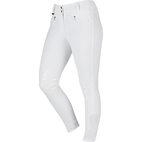 Front - Dublin Womens/Ladies Supa Shape It Performance Gel Knee Patch Breeches