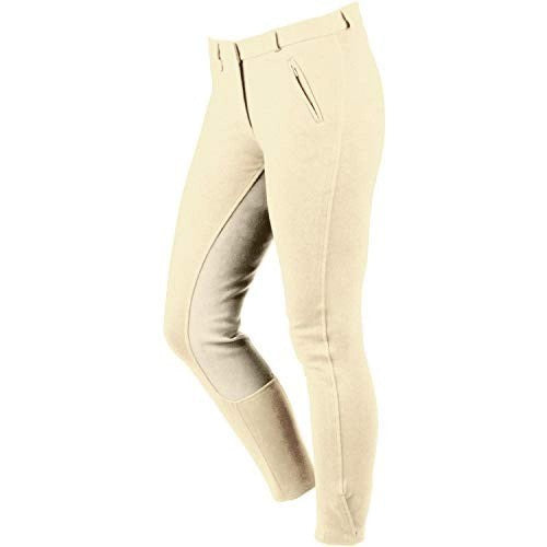 Front - Dublin Womens/Ladies Supa Slender Classic Touch Fastening Full Seat Breeches