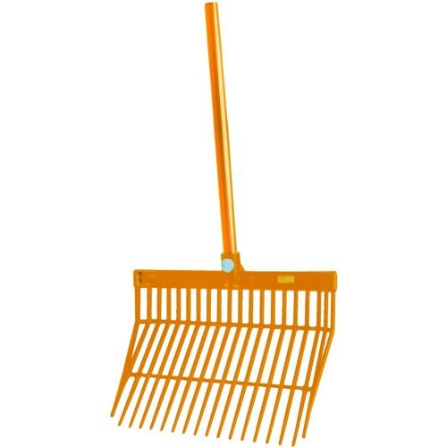 Orange - Back - Roma Brights Revolutionary Stable Rake With Handle