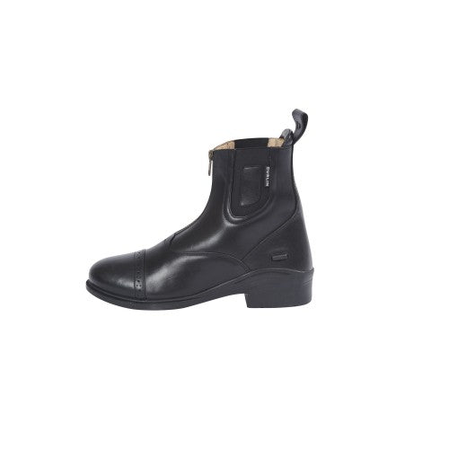 Front - Dublin Evolution Adults Zip Front Leather Paddock Boots