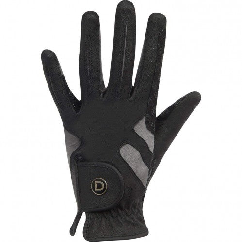 Front - Dublin Unisex Cool-it Gel Touch Fastening Riding Gloves