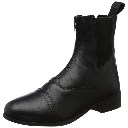 Front - Dublin Adults Elevation Zip Leather Paddock Boots II