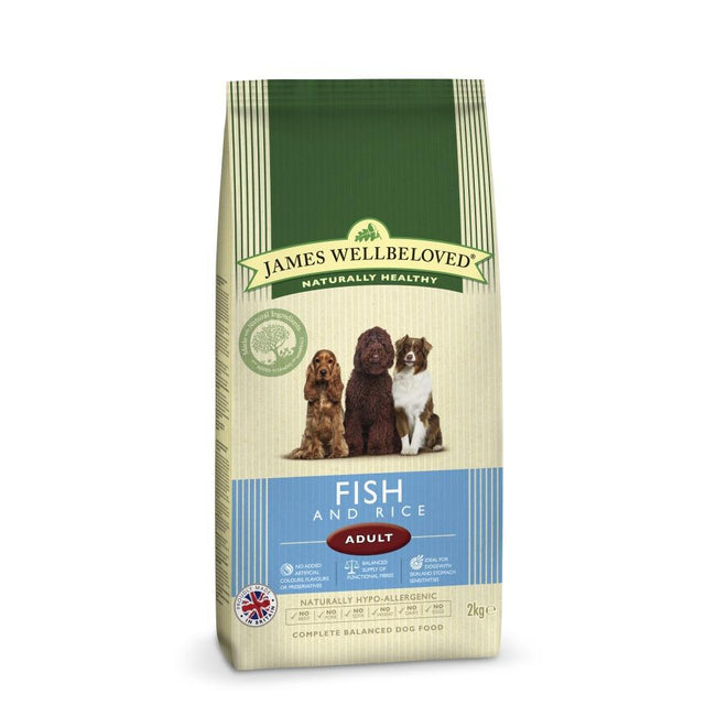 May Vary - Front - James Wellbeloved Adult Fish And Rice Hypoallergenic Complete Dry Dog Food