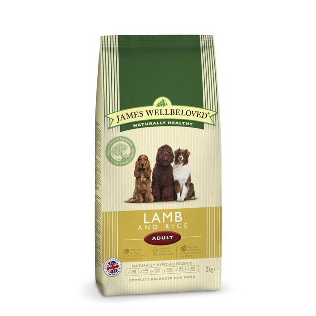 May Vary - Front - James Wellbeloved Adult Lamb And Rice Hypoallergenic Complete Dry Dog Food