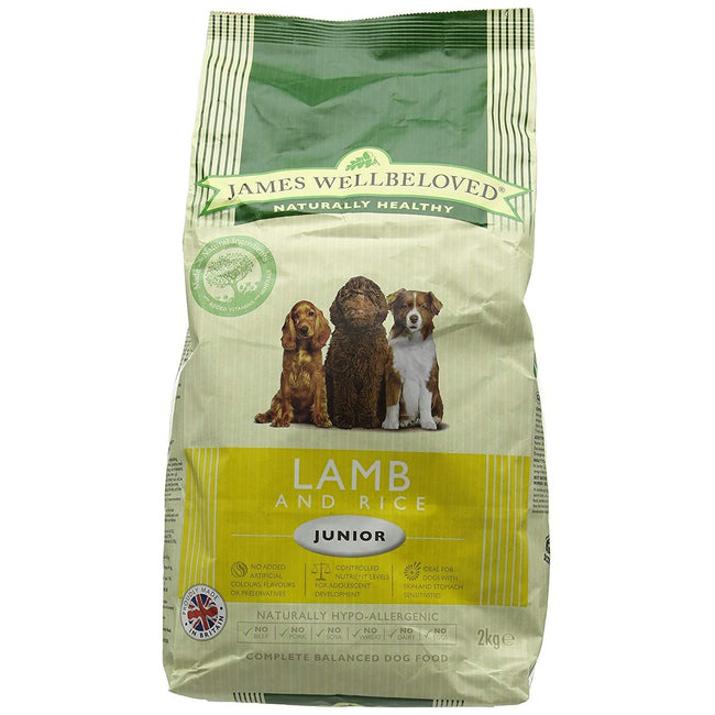 May Vary - Front - James Wellbeloved Junior Dog Lamb And Rice Hypoallergenic Complete Dry Dog Food