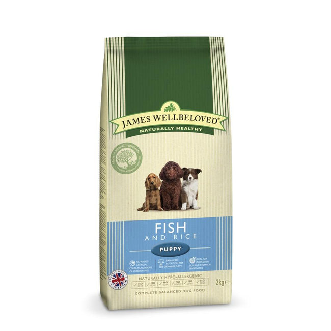 May Vary - Front - James Wellbeloved Fish And Rice Hypoallergenic Complete Dry Puppy Food