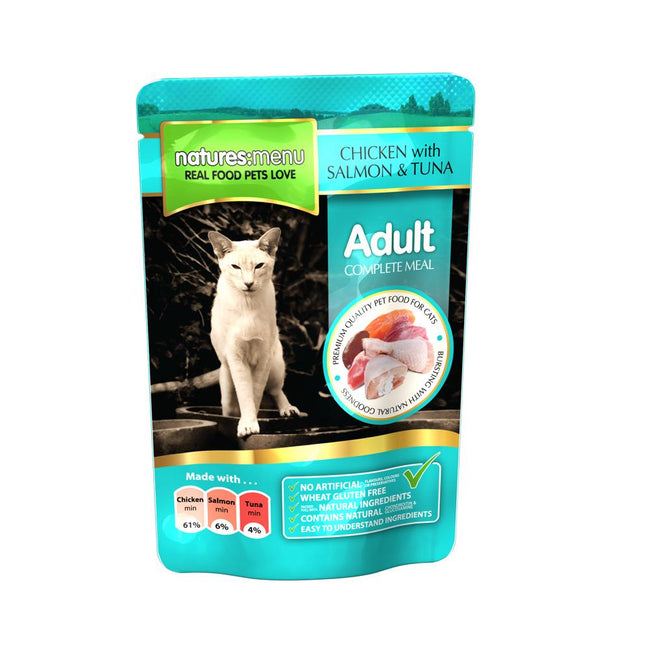 May Vary - Front - Natures Menu Chicken Salmon & Tuna Cat Food