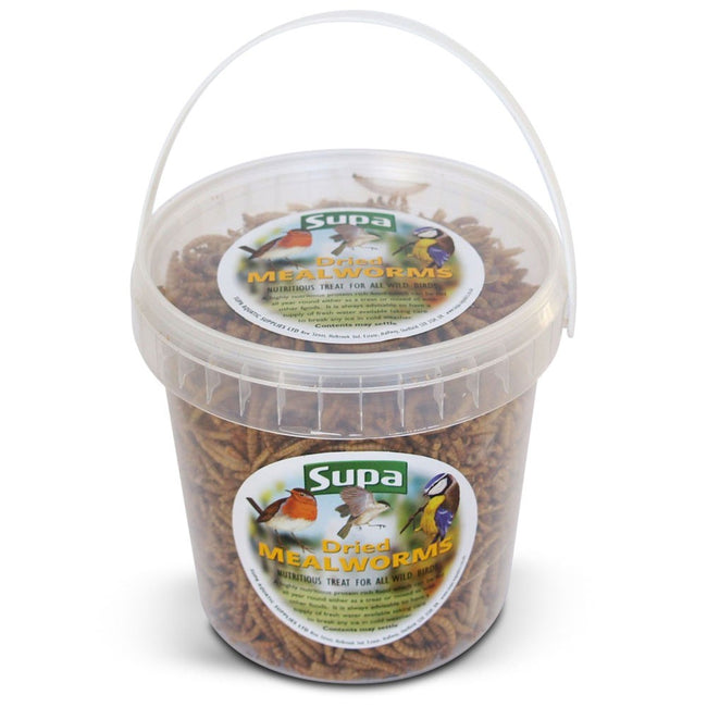 Mealworms - Front - Supa Dried Mealworms (4 Tubs)
