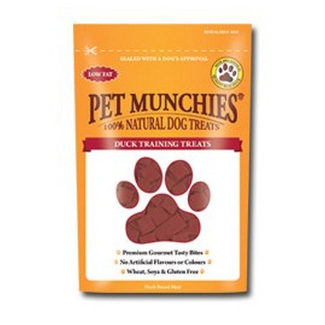 Duck - Front - Pet Munchies Dog Training Treats (8 Packs)