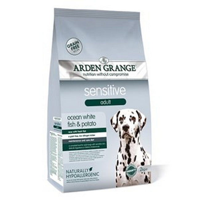 White Fish And Potato - Front - Arden Grange White Fish And Potato Sensitive Adult Dry Dog Food
