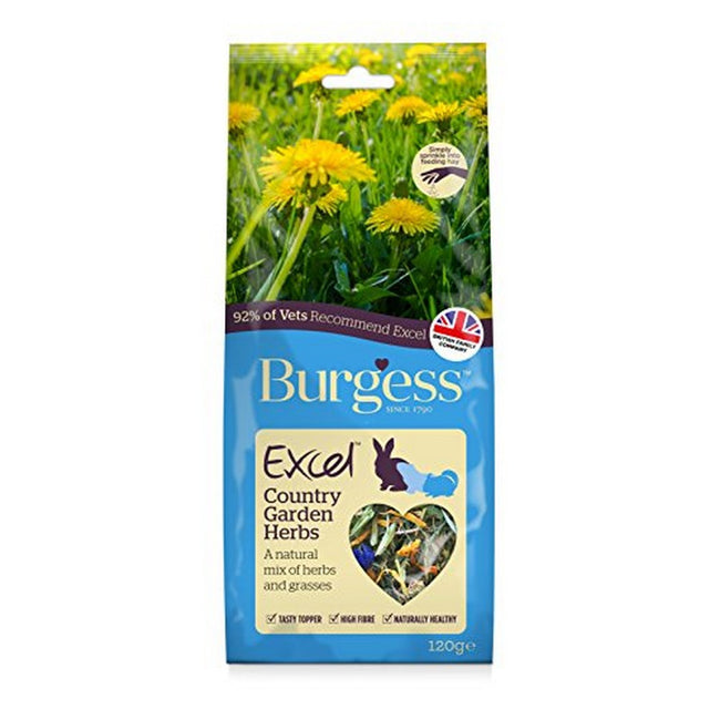 May Vary - Front - Burgess Excel Snack Country Garden Herbs Small Animal Food (6 Packs)