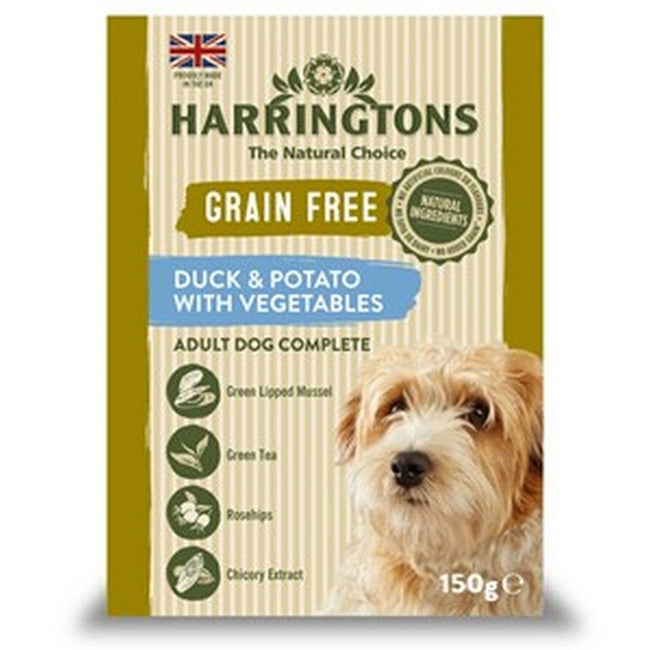 Duck And Potato - Front - Harringtons Grain Free Duck And Potato Wet Dog Food (7 Packs)
