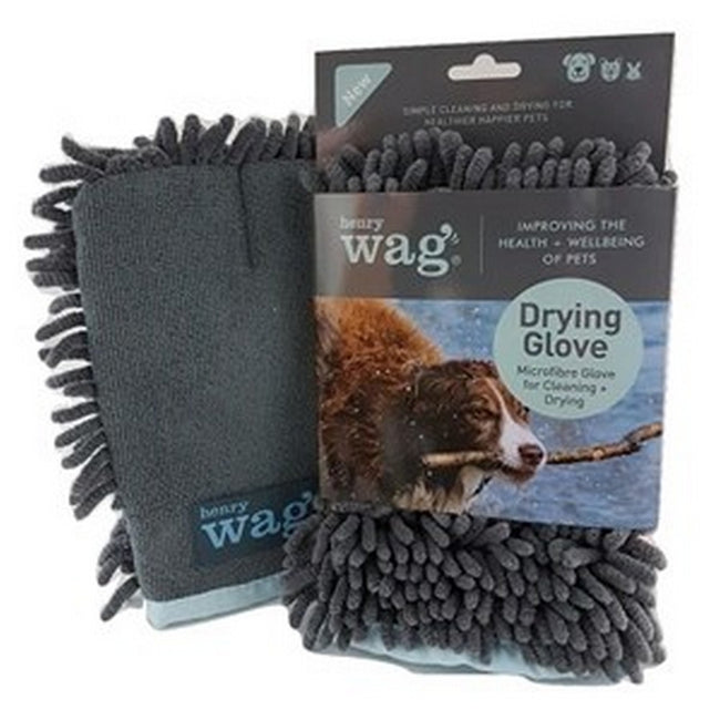 Grey - Front - Henry Wag Dog Noodle Drying Glove Towel
