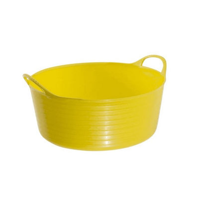 Yellow - Front - Red Gorilla Shallow Plastic Tub