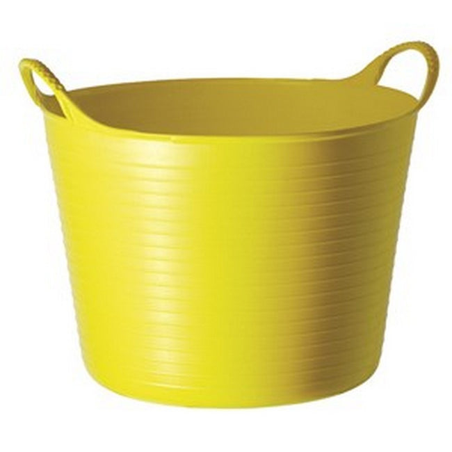 Yellow - Front - Red Gorilla Medium Plastic Tub
