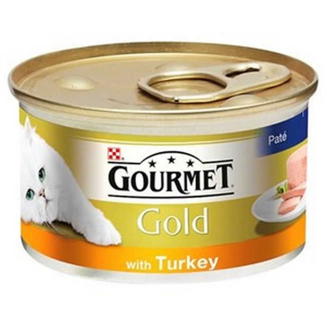 Turkey - Front - Gourmet Gold Turkey Pate Wet Cat Food (12 Packs)