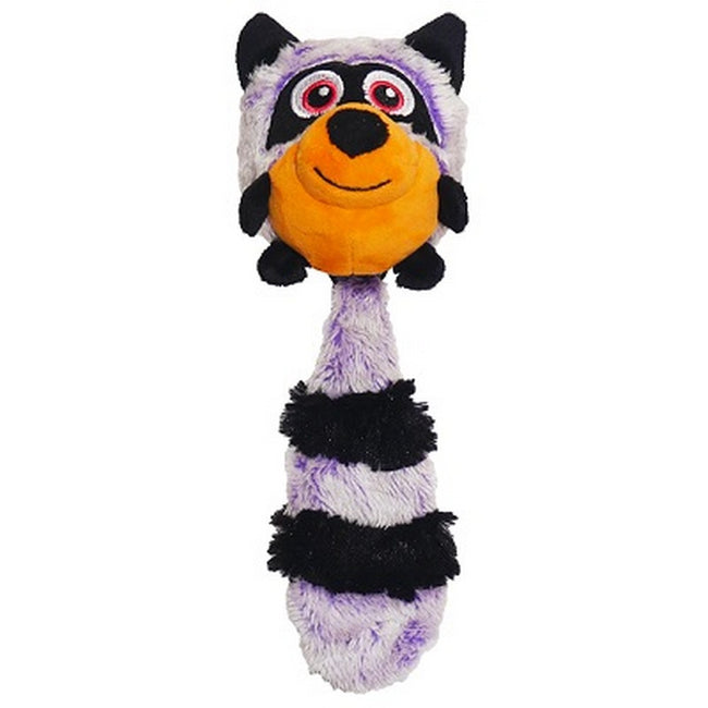 Grey - Front - Rosewood Jolly Doggy Squeak Raccoon Dog Toy