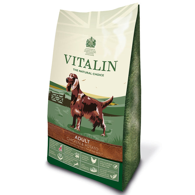 Chicken and Rice - Front - Vitalin Grain Free Complete Dry Puppy Food