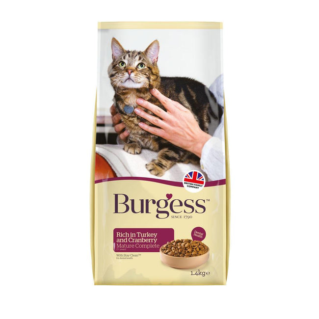 May Vary - Front - Burgess Turkey & Cranberry Mature Cat Food