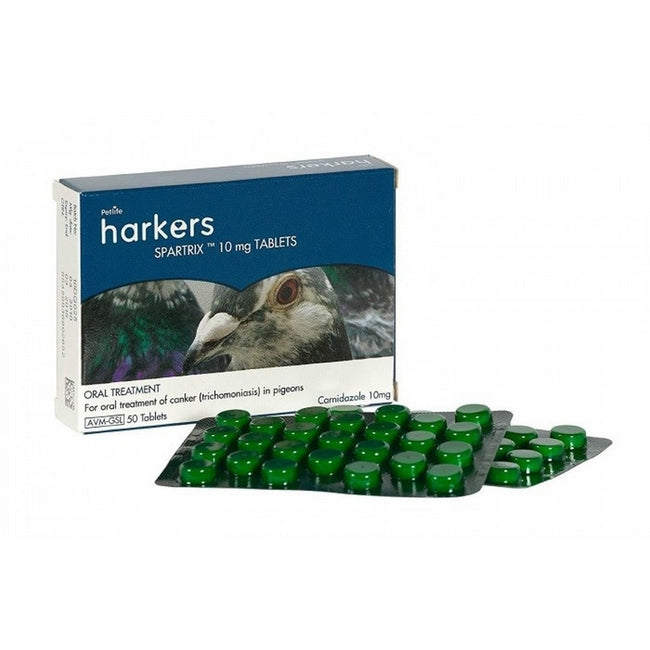 Green - Front - Harkers Spartrix Pidgeon Canker Tablets (Pack Of 50)