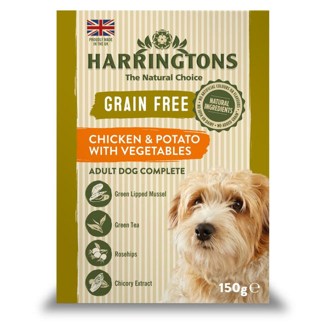 May Vary - Front - Harringtons Chicken And Potato Complete Wet Dog Food (7 Trays)
