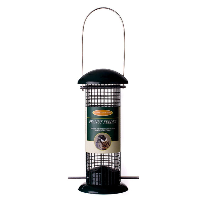 Black - Front - Johnston & Jeff Metal Peanut Bird Feeder