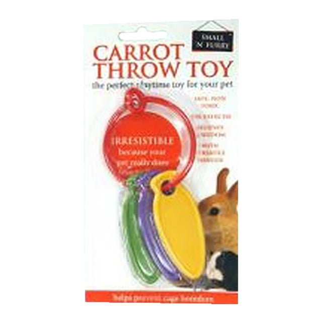May Vary - Back - Small N Furry Carrot Throw Toy