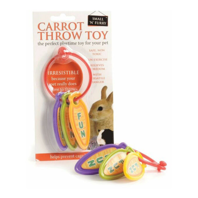 May Vary - Side - Small N Furry Carrot Throw Toy