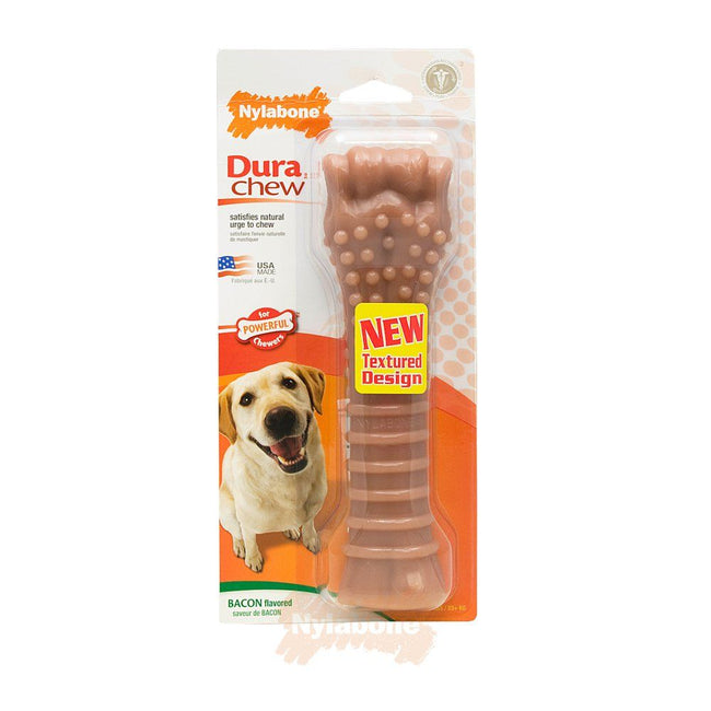 May Vary - Front - Nylabone Bacon Impregnated Bone For Larger Dogs