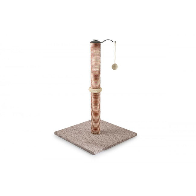Light Brown - Front - Ancol Premo Extra Large Cat Scratch Post  [BTP]