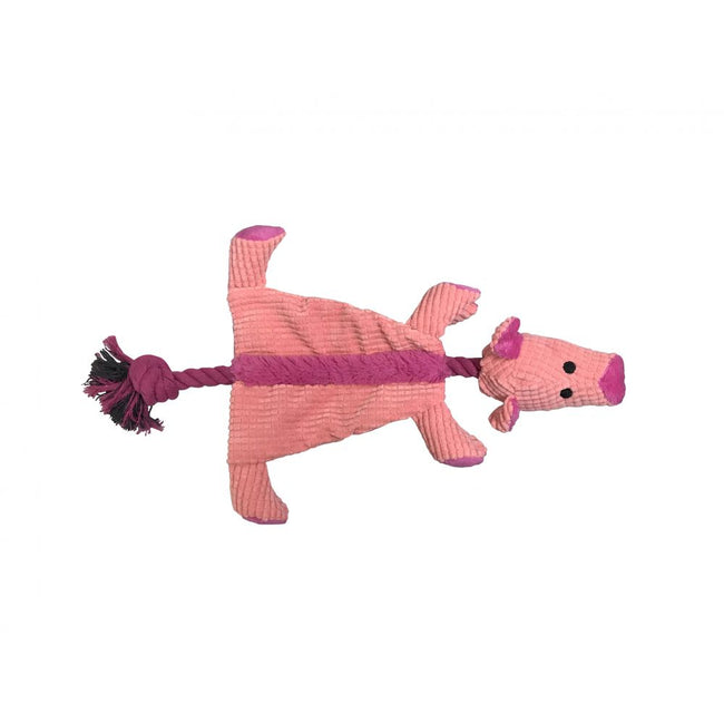 May Vary - Front - Good Boy Raggy Crinkle Pig Dog Toy