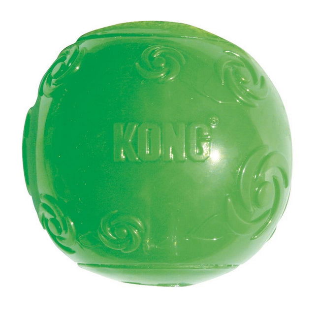 May Vary - Front - KONG Squeezz Medium Dog Ball