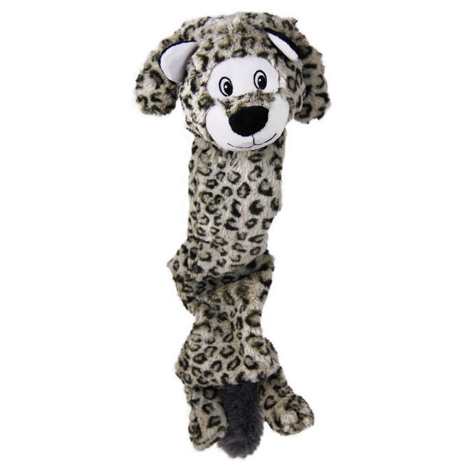 May Vary - Front - KONG Jumbo Stretchezz Leopard Plush Dog Toy