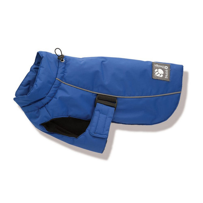 Blue - Front - Danish Design Luxury Sport Dog Coat