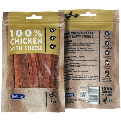 May Vary - Side - Hollings 100% Chicken Bars With Cheese Dog Treats